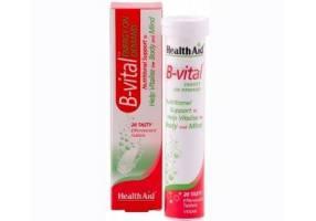 HEALTH AID B-vital Vit. B Complex -efferv. -apricot 20's