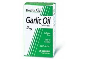 HEALTH AID Garlic Oil 2mg Odourless Vegetarian Capsules 30's
