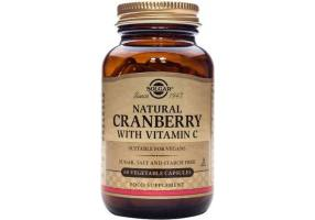 SOLGAR Natural Cranberry with Vitamin C 60caps