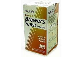 HEALTH AID Super Brewers Yeast - 500 Tablets