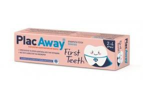 Plak Out Plac Away First Teeth Toothpaste Vanilla Children 2-6 Years 50ml