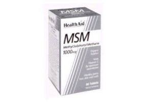 HEALTH AID Msm 1000mg Vegetarian Tablets 90's