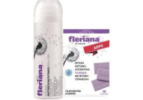 POWER HEALTH Fleriana Roll-On 100ml + Δώρο Εντομοαπωθητικά Πλακίδια 10 Τμχ