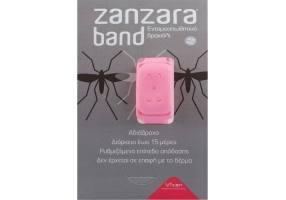 ZANZARA Εντομοαπωθητικό Βραχιόλι Ροζ S/M 1Τμχ