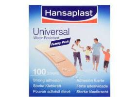 HANSAPLAST Strips Family Pack Water resistant 100τεμ (3cmx7,2cm)