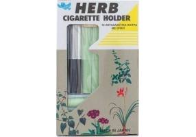 HERB Cigarette Holder Ασημί 12τμχ + Θήκη