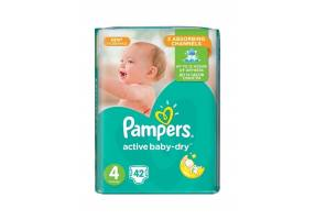 Active Baby-Dry Diapers 4 (Maxi) 8-16Kg 42 Diapers