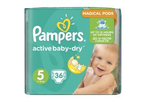 Pampers Active Baby Dry No5 ( 11-18Kg) 36Τμχ