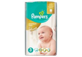 PAMPERS Premium Care Diapers Size 3 (Midi) 5-9 Kg 60 Diapers
