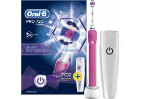 Electric Toothbrush Pro 750 3D White Pink