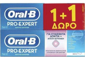 Oral-B Pro-Expert for sensitive teeth and gentle whitening 1 + 1 75ml