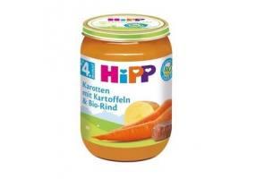 Hipp Βρεφικό Γεύμα Υποαλλεργικό με Μοσχαράκι, Πατάτες και Καρότα 190gr