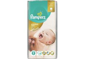 Pampers Premium Care Diapers Size 2 (Mini) 3-6 Kg 50 Diapers