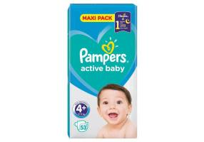 Active Baby-Dry Diapers Size 4+ (Maxi +) 9-18Kg 39 Diapers