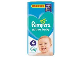 PAMPERS ACTIVE BABY DRY 4 TEM 58