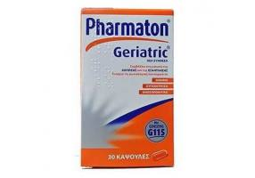 Pharmaton Geriatric Dietary Supplement with a combination of vitamins, minerals, trace elements & Ginseng G115, 30 caps