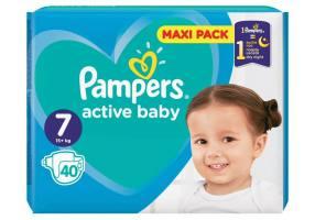 Pampers Active Baby Πάνες Maxi Pack Μέγεθος 7 (15+ kg)