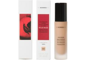 Korres Wild Rose Brightening Foundation SPF15 Wild Rose WRF3 for Glow & Natural Coverage, 30ml