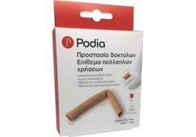 Podia Extra Long Tube Fabric + Gel Προστασία Δακτύλων Επίθεμα Πολλαπλών Χρήσεων One Size, 1τμχ