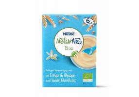 Nestle Naturnes Bio Organic Baby Cereals with Wheat & Oat and Vanilla Flavor 6 Months +, 240gr