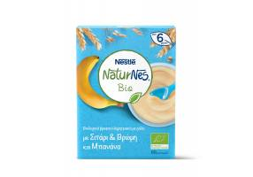 Nestle Naturnes Bio Organic Baby Cereals with Wheat & Oat and  banana  Flavor 6 Months +, 240gr