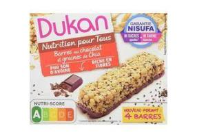 Dukan Expert Chocolate Oat Bran Bars with Chia Seeds, 37gr
