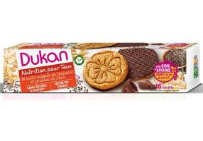 Dukan Expert Dukan Oat Biscuits with Chocolate Coating & Chia Seeds, 160 gr