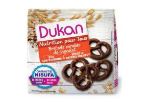 Dukan Expert Pretzels Oatmeal with Chocolate Coating, 100gr