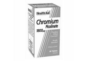Health Aid CHROMIUM Picolinate 1800 μg, 60 ταμπλέτες