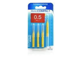 Elgydium Clinic Mono Compact Yellow 0.5 Intermediate Brushes 4pcs.