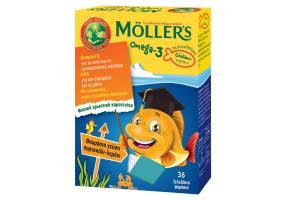 MOLLER OMEGA-3 KIDS 36 jellies minnow great tasting ORANGE-LEMON