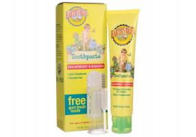 Earth's Best Baby - Baby Toothpaste 6m + with Special Soft Brush, Strawberry-Banana flavor, 45 gr