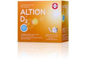 Altion Βιταμίνη D3 1000IU Συμπλήρωμα Διατροφής για την υγεία των οστών, δοντιών & μυών, 30φακελίσκοι