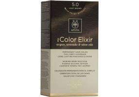 Apivita My Color Elixir Μόνιμη Βαφή Μαλλιών No 5.0 Καστανό Ανοιχτό, 1 τεμάχιο